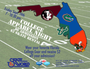 school colors college football night
