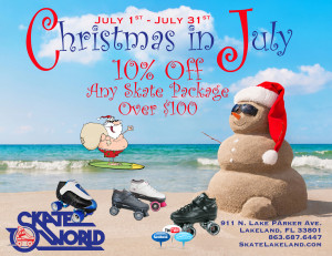 summer skate sale - christmas in july