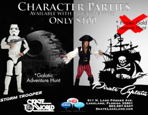 pirate and stormtrooper parties