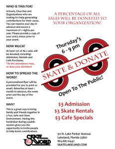 lakeland fundraiser - skate and donate