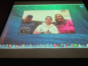 brock and family facetime