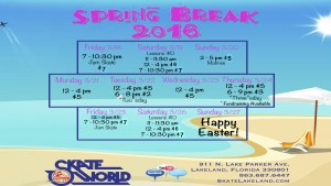 spring break schedule 2016