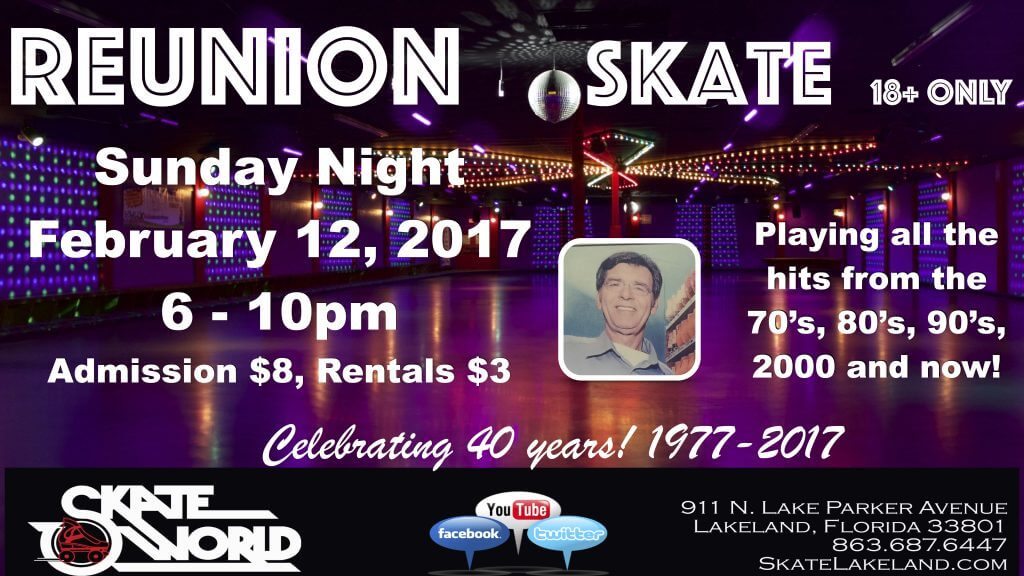 40 year reunion skateworld
