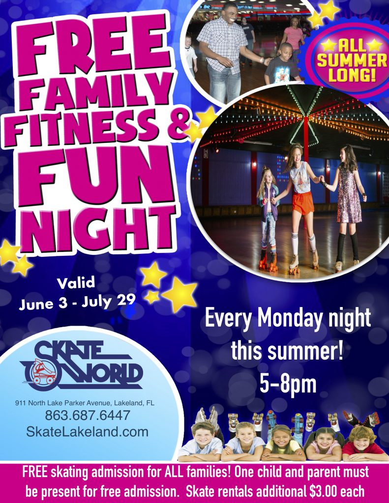 free family fun and fitness night.